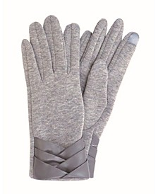 Pleated Cuff Jersey Touch Glove