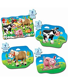 My First Puzzle Sets 4 in a Box Puzzles- Farm