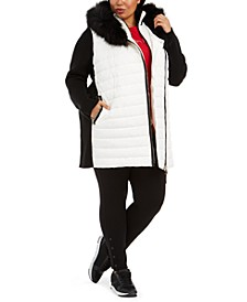 Plus Size Faux-Fur-Trim Puffer Coat