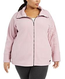 Plus Size Mock-Neck Logo-Sleeve Sweater