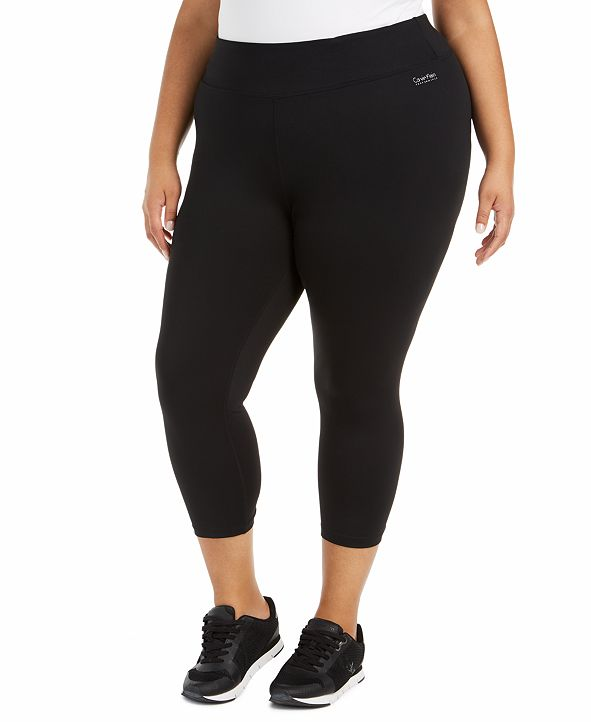 Calvin Klein Plus Size Active Cropped Leggings