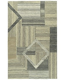 Alzada ALZ04-49 Brown 2' x 3' Area Rug