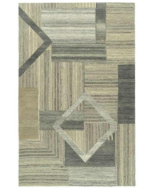 Kaleen Alzada ALZ04-49 Brown 2' x 3' Area Rug