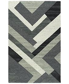 Kaleen Alzada ALZ03-38 Charcoal 9' x 12' Area Rug