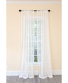 Breeze Wavy Embroidered Sheer Rod Pocket Curtain Collection