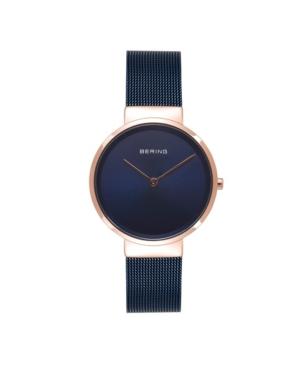 Women's Classic Blue Stainless Steel Mesh Bracelet Watch 31mm