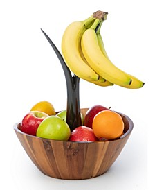 Acacia Fruit Bowl with Banana Stem