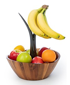 Casa Bellante Acacia Fruit Bowl with Banana Stem