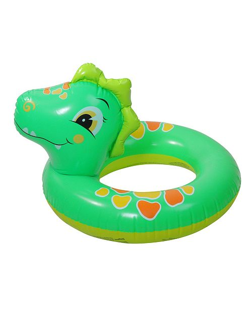 "Northlight 24"" Inflatable Dinosaur Children's Swimming Pool Inner Tube Ring Float"