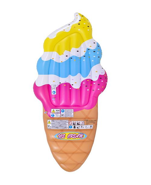 "Northlight 66.5"" Inflatable Jumbo Ice Cream Cone Swimming Pool Float"