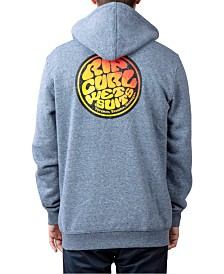 Rip Curl Men's Wetty Republic Logo-Print Full-Zip Fleece Hoodie