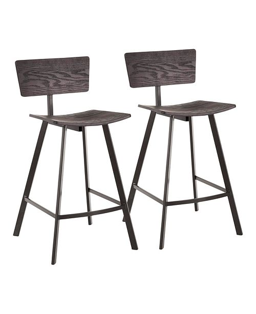 Lumisource Rocco Counter Stool, Set of 2