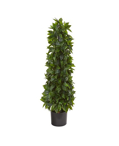 Nearly Natural 3' Sweet Bay Cone Topiary Artificial Tree