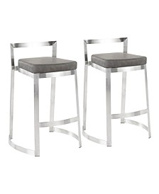 Fuji DLX Counter Stool, Set of 2