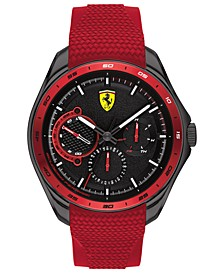 Men's Speedracer Red Silicone Strap Watch 44mm