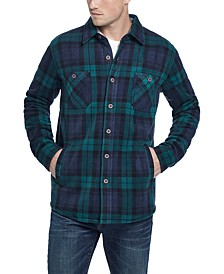 Men's Fleece-Lined Plaid Shirt Jacket
