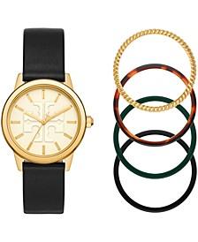 Women's Gigi Black Leather Strap Watch 36mm