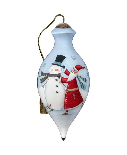 Ne'Qwa The NeQwa Art Tis The Season hand-painted blown glass Christmas ornament