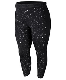 Plus Size Pro Warm Starry Night Metallic Tights