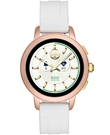 Women's Tory White Silicone Strap Touchscreen Smart Watch 42mm, Powered by Wear OS by Google™