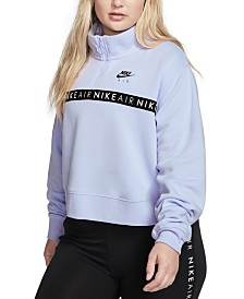 Nike Air Plus Size Zip Cropped Top