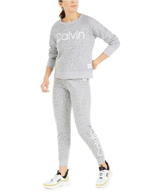 Calvin Klein Animal-Print Logo Sweatshirt