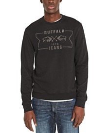 Buffalo David Bitton Men's Facory Regular-Fit Fleece Logo Sweatshirt