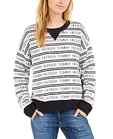 Logo-Striped Sweater, Created For Macy's