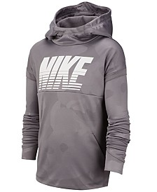 Nike Big Boys Therma Dri-FIT Camo-Print Hoodie