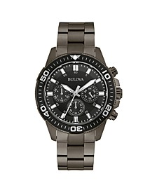 Men's Chronograph Sport Gray Stainless Steel Bracelet Watch 42mm, Created for Macy's