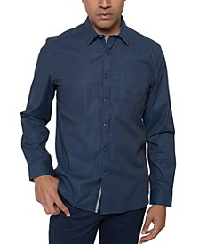 Men's Regular-Fit Stretch Mini-Dot Print Shirt