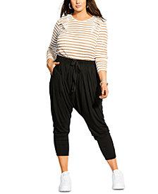 City Chic Trendy Plus Size Baggy Pants