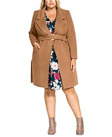 Trendy Plus Size Regal Coat
