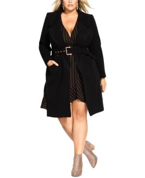 City Chic Coats TRENDY PLUS SIZE REGAL COAT