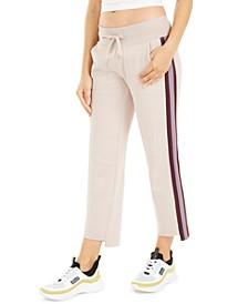 Stripe Wide-Leg Step-Hem Pants