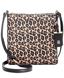 Julia Leopard Nylon Crossbody