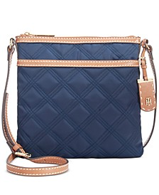 Julia Triple Quilted Nylon Crossbody, Created for Macy's