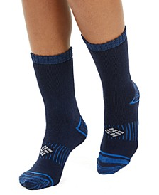 Women's 2 Pack Moisture-Control Space-Dyed Crew Socks