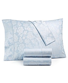 1000-Thread Count 4-Pc. Queen Floral Jacquard Sateen Sheet Set