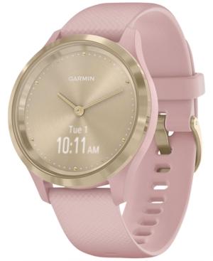 Unisex Vivomove 3S Dust Rose Silicone Strap Smart Watch 8.9mm