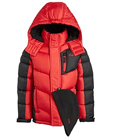 Toddler & Little Boys 2-Pc. Puffer Jacket & Hat Set