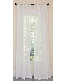 Bonita Diamond Embroidered Sheer Rod Pocket Curtain Collection