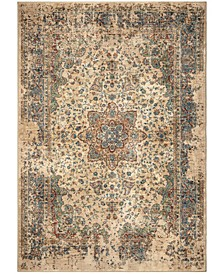 "Alexandria Distressed Regal White 8'10"" x 13' Area Rug"