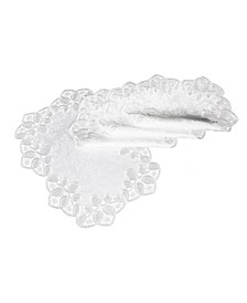 "Antebella Lace Embroidered Cutwork Placemats, 13"" x 19"", Set of 4"