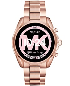 Michael Kors Access Bradshaw 2 Rose Gold-Tone Stainless Steel Bracelet Touchscreen Smart Watch 44mm