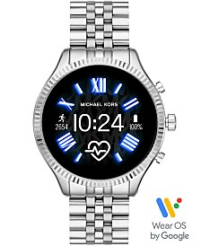 Michael Kors Access Lexington 2 Stainless Steel Bracelet Touchscreen Smart Watch 44mm, Powered by Wear OS by Google™