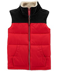 Toddler Boys Fleece-Trim Colorblocked Vest