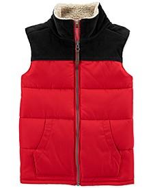 Little & Big Boys Fleece-Trim Colorblocked Vest