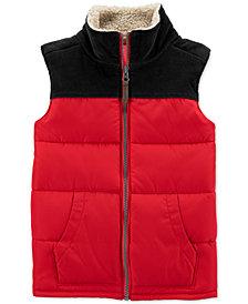 Carter's Toddler Boys Fleece-Trim Colorblocked Vest