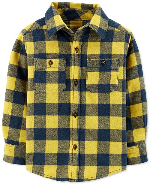 Carter's Toddler Boys Cotton Plaid Flannel Shirt
